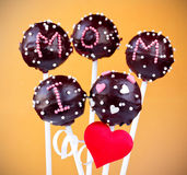 Cake pops on Mother's Day Stock Photo