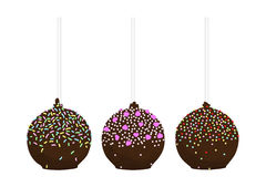 Set of cupcakes on a stick, round cupcakes, cake pops Stock Images