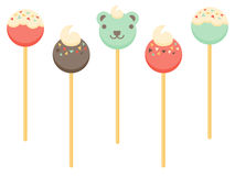 Cake Pops. A set of cake pop illustrations Royalty Free Stock Photos
