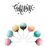 Cake pops set. Royalty Free Stock Photos