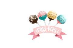 Cake pops set. Stock Image