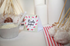Cake pops, sweet white rice. Candybar sweets. Royalty Free Stock Photography