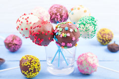 Cake pops on Royalty Free Stock Photo