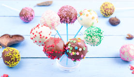 Cake pops on Stock Image