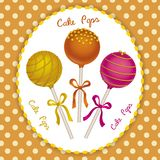 Cake Pops trio Stock Photo