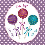Cake Pops trio Royalty Free Stock Photo