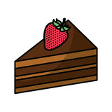 Cake portion with strawberry. Vector illustration design Royalty Free Stock Photography