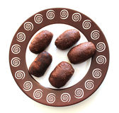 Cake Potato on the plate Stock Images