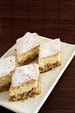 Cake with powdered sugar Stock Photo