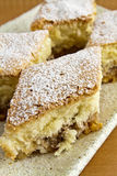 Cake with powdered sugar Stock Images