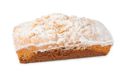 Cake with powdered sugar and peanut Stock Image