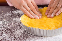 Cake preparation Stock Photography