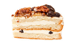 Cake with prunes and walnuts Stock Photography