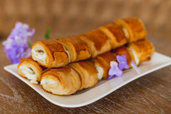 Cake from puff pastry Royalty Free Stock Images