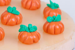 Cake with pumpkins Royalty Free Stock Images