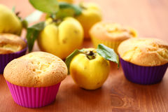Cake with quince Stock Photos