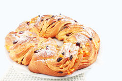 Cake with raisin and candied orange Royalty Free Stock Images