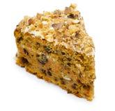 Cake with raisin and walnuts, macro Stock Photo