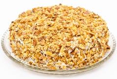 Cake with raisin and walnuts, macro Stock Image