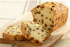 Cake with raisins Stock Images