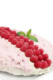 Cake with the raspberries Royalty Free Stock Images