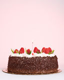 Cake with Raspberries Stock Photo