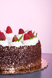 Cake with Raspberries Royalty Free Stock Image