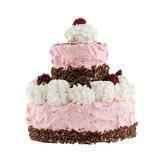 Cake with raspberries; Clipping path Royalty Free Stock Photography