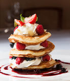 Cake with raspberries Stock Photography