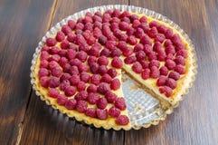 cake with raspberries Royalty Free Stock Photos