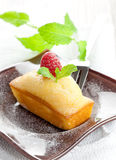Cake with raspberry Stock Image