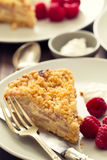Cake with raspberry. On plate Stock Photo