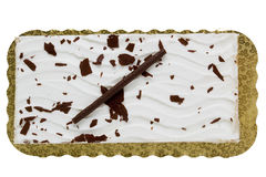 Cake rectangular shape Royalty Free Stock Image