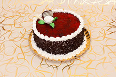 Cake with red fruit jelly Stock Images