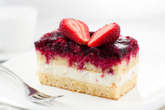 Cake with red fruits Stock Image
