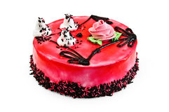 Cake with red jelly Stock Image