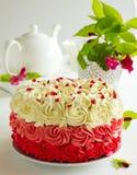 Cake Red Velvet Stock Photography