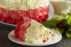 Cake Red Velvet Stock Photo