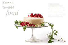 Cake with redcurrant isolated Royalty Free Stock Image