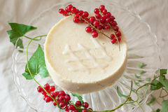 Cake with redcurrant Stock Image
