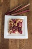 Cake with rhubarb Stock Photo