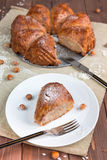 Cake with rice and nuts Stock Photography