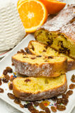 Cake with ricotta and fruit Royalty Free Stock Images