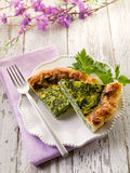 Cake with ricotta and spinach Royalty Free Stock Images