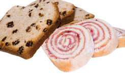 Cake and roll Royalty Free Stock Photography