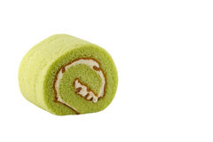 Cake roll. Cake roll flavoured with pandan leaves Stock Images
