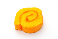 Cake roll. An isolated cake roll on white background Royalty Free Stock Photos