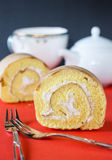 Cake roll Stock Images