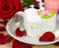 Cake and rose Stock Photography