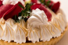 Cake with rose petals royalty free stock images